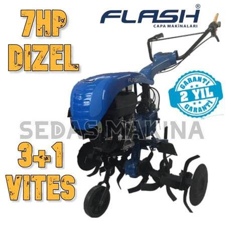 Flash 300 –  Marşlı Dizel Çapa Makinesi (7 HP) 3+1 Vites